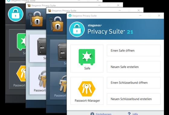 Steganos Privacy Suite 21 für mehr Performance und Überblick bei Privatsphäre und Datenschutz