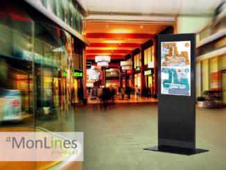 Halterungssysteme unterstützen Digitale Displays in Shopping Malls