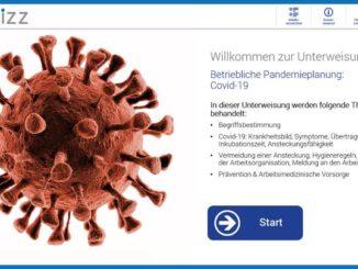 Betriebliche Pandemieplanung, Hygieneregeln und Anpassung der Arbeitsorganisation