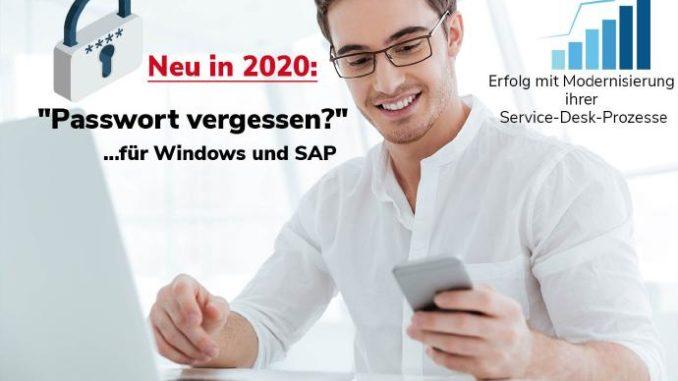 """Neu in 2020: """"Passwort vergessen?"""" für Windows und SAP"""