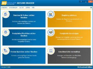 Browserverläufe endgültig und sicher löschen unter Windows - ASCOMP veröffentlicht Version 5.2 für Secure Eraser