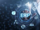 ERP Enterprise resources planning system software business technology.